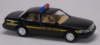 HO 1:87 Busch Cop Car Collection Ford Crown Victoria Iowa State Patrol Car
