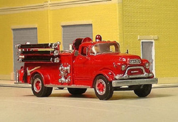 HO 1:87 Sylvan # V-323 - 1955-56 GMC 630 w/LaFrance Fire Pumper Body  KIT