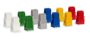 HO 1:87 Herpa # 54096 Gas Cylinders on Pallets (12 pcs.) 6 colors/2 each