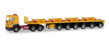HO 1:87 Herpa # 311434 Scania R 360 Ballast Trailer semi w/4 ballasts - Franz Bracht