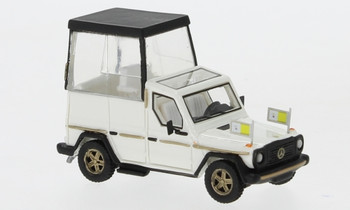 HO 1:87 BOS # 87675  - 1980 Mercedes 230 G Papamobil - Pope Mobile - White