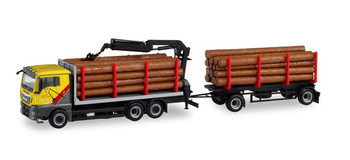 HO 1:87 Herpa #311489 -  MAN TGX Log Truck/Trailer w/logs -  Mengel Holztransporte