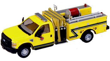 HO 1:87 RPS # 538-57A2.86- 2010 Ford F-550 XLT DRW Crew Cab Fire Truck Yellow