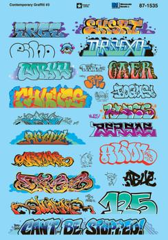 HO 1:87 Microscale 87-1535 Contemporary Graffiti #3 Decals