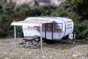 HO 1:87 Osborn Models 15' Travel Trailer Scenery KIT - Laser Cut