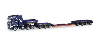 HO 1:87 Herpa # 311564 Scania CS 20, Lowboy Construction Trailer - Karner
