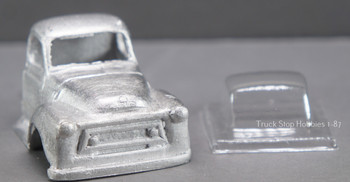 HO 1:87 PY-AS International AS Cab w/glazing insert, White Metal - CAB ONLY KIT