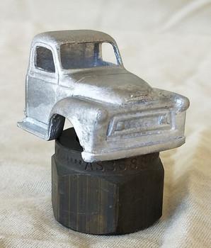 HO 1:87 PY-AL International AL Cab w/glazing insert, White Metal - CAB ONLY KIT