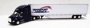 HO 1:87 TNS #045 - KW T680 Sleeper w/53' Dry Van Transport America