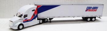 HO 1:87 TNS #032 - KW T680 Sleeper w/53' Dry Van Conway Truck Load