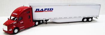 HO 1:87 TNS #042 - KW T680 Sleeper w/53' Dry Van Rapid Transport