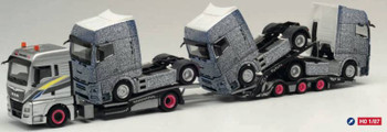 HO 1:87 Herpa # 311984 MAN TGX XIx Truck Transporter w/3 X MAN Tractors