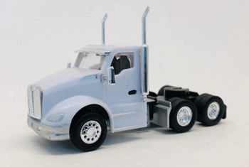 HO 1:87 Promotex # 6598 Kenworth T-680 Day Cab Tractor - White