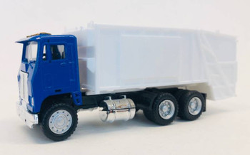 HO 1:87 Promotex # 6446 White Road Commander Garbage Truck - Blue