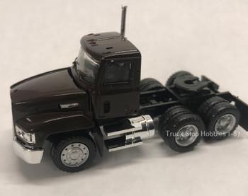 HO 1:87 Promotex # 15264  Mack Short 603 Day Cab Tractor Tandem - Brown