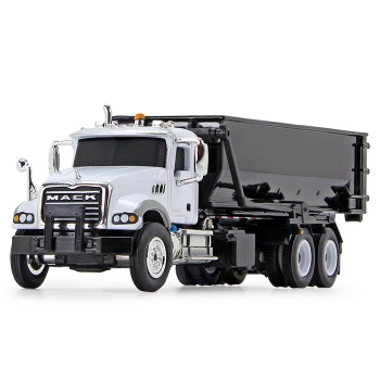 HO 1:87 First Gear # 80-0343 Mack Granite w/Roll-off Container - White/Black