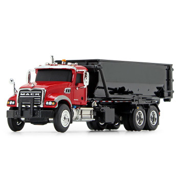 HO 1:87 First Gear # 80-0344 Mack Granite w/Roll-off Container -Red/Black