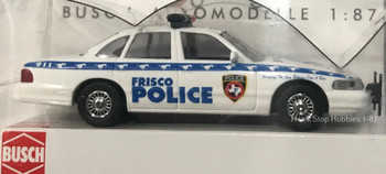 HO 1:87 Busch State Police 49013 Ford Crown Vic Frisco, TX Police Car