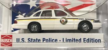 HO 1:87 Busch State Police 49079 Ford Crown Vic North Dakota State Patrol Car