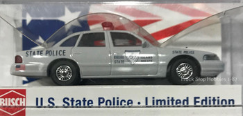 HO 1:87 Busch State Police 49087 Ford Crown Vic Rhode Island State Police Car