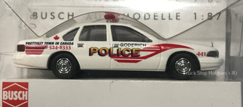 HO 1:87 Busch 47627 Chevy Caprice Goderich Police Car