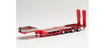 HO 1:87 Herpa # 76968 - Goldhofer Allrounder 3-Axle  Trailer  - Red