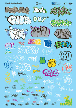 HO 1:87 Microscale 87-1536 Irish & Scottish Graffiti Decals