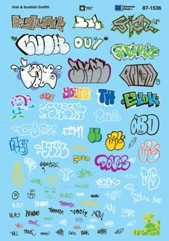 HO 1:87 Microscale 87-1536 Irish & Scottish Graffiti Decals