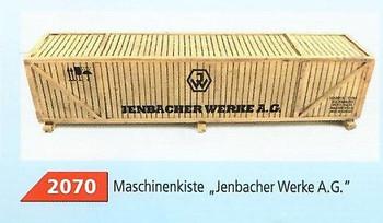 HO 1:87 Loewes Model # 2070 Crated Machinery Truck/Train Car Cargo Load - Jenbacher Werke