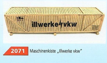 HO 1:87 Loewes Model # 2071 Crated Machinery Truck/Train Car Cargo Load - Illwerke vkw