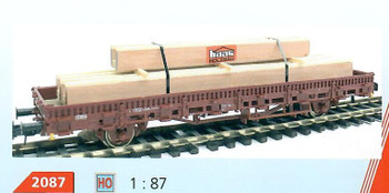 HO 1:87 Loewes Model # 2087 Heavy Timber Truck/Train Car Cargo Load - HAAS
