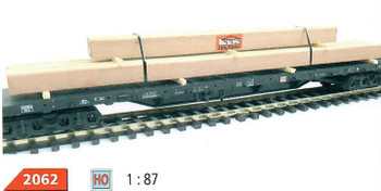 HO 1:87 Loewes Model # 2062 Heavy Timber Truck/Train Car Cargo Load - HAAS