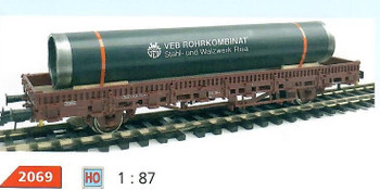 HO 1:87 Loewes Model # 2069 Pipe Truck/Train Car Cargo Load - VEB Rohrkombinat