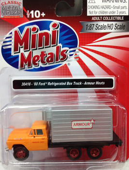 HO 1:87 Classic Metal # 30416 - '60 Ford Tandem Axle w/Reefer Box - Armour Meats