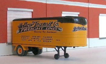 HO 1:87 Sylvan Scale Models #  LH-81 Yellow Freight Decal Set