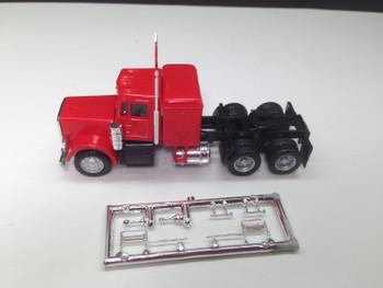 HO 1:87 Promotex # 25233  Peterbilt Conv. Tandem Tractor w/sleeper Red