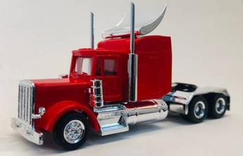 HO 1:87 Promotex # 35233 Peterbilt long tractor w/ Large Sleeper & Wing - Red