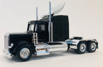 HO 1:87 Promotex # 35233 Peterbilt w/Chrome Chassis, Large Sleeper, Wing - Black