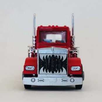 HO 1:87 Promotex # 466327 KW W-900 Short Tractor w/Growler Grill - Red