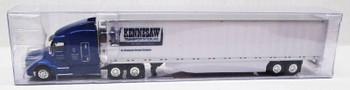HO 1:87 TNS # 044 - Peterbilt 579 Sleeper Cab w/53' Reefer Van - Kennesaw Trans.