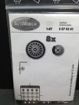 HO 1/87 AutoMobilia DE # 3870301 Race Wheels  O.Z. (8)  Detail Parts