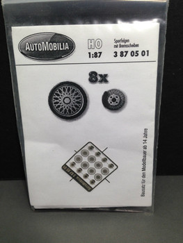 HO 1:87 AutoMobilia DE # 3870501 Race Wheels  BBS  80's (8)  Detail Parts