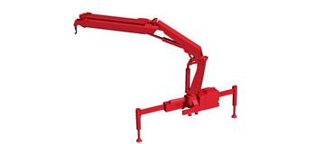 HO 1:87 Herpa # 54126 HIAB X-Hipro loading crane Hoist w/ hook - Red