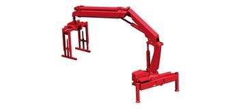 HO 1:87 Herpa # 54133 HIAB X-Hipro loading crane Hoist w/ pallet fork - Red