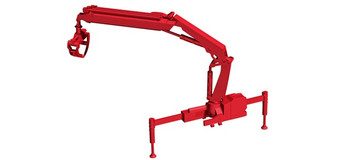 HO 1:87 Herpa # 54140 HIAB X-Hipro loading crane Hoist w/log grabber - Red