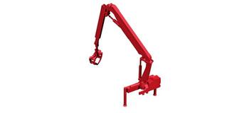 HO 1:87 Herpa # 54147 HIAB X-Hipro loading crane Hoist w/log grabber  - extra reach - Red