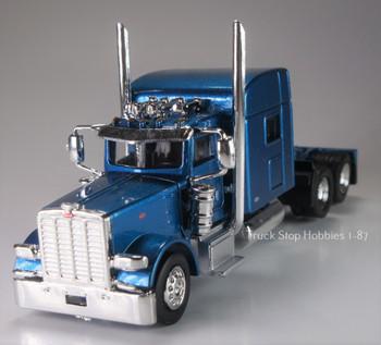 HO 1:87 TSH #502 Peterbilt 389 Tandem Axle Tractor - Metallic Blue