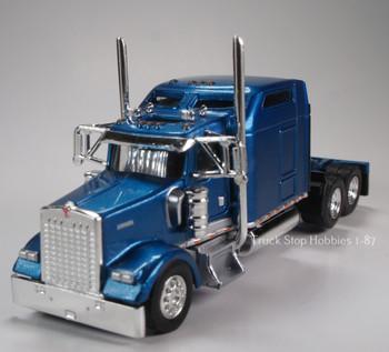 HO 1:87 TSH # 652 Kenworth 900L Tandem Axle Tractor - Metallic Blue