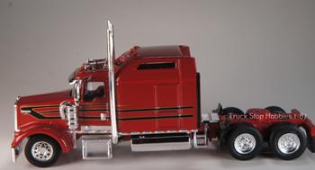 HO 1:87 TSH # 657 Kenworth 900L Tandem Axle Tractor - Red/Black/Gold