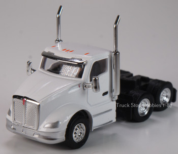 HO 1:87 TSH # 683 Kenworth T-680 Day Cab Tandem Axle Tractor - White